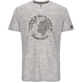 super.natural Graphic T-shirt Herr ash melange/killer khaki planet b
